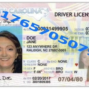 NORTH CAROLINA ID (Drivers License)