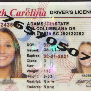 SOUTH CAROLINA ID (Drivers License)